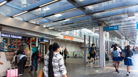 Parramatta Station, the trailhead.