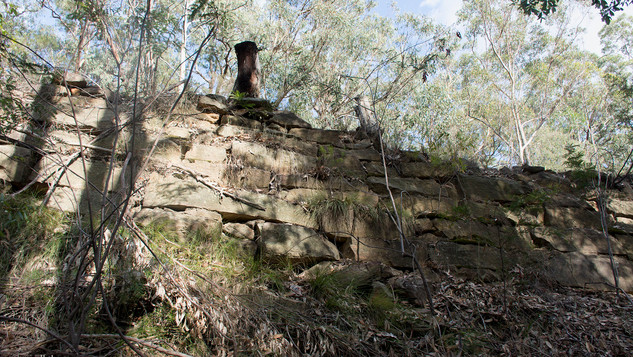 The 1820's stonework of the retaining walls on the Zig Zags of the Old Bathurst Road.