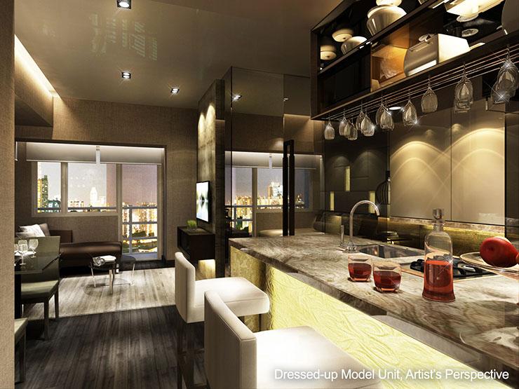 Air Residences Bedroom Bar area