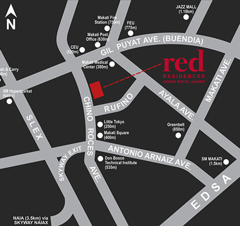 SMDC Red Residences vicinity-map.png