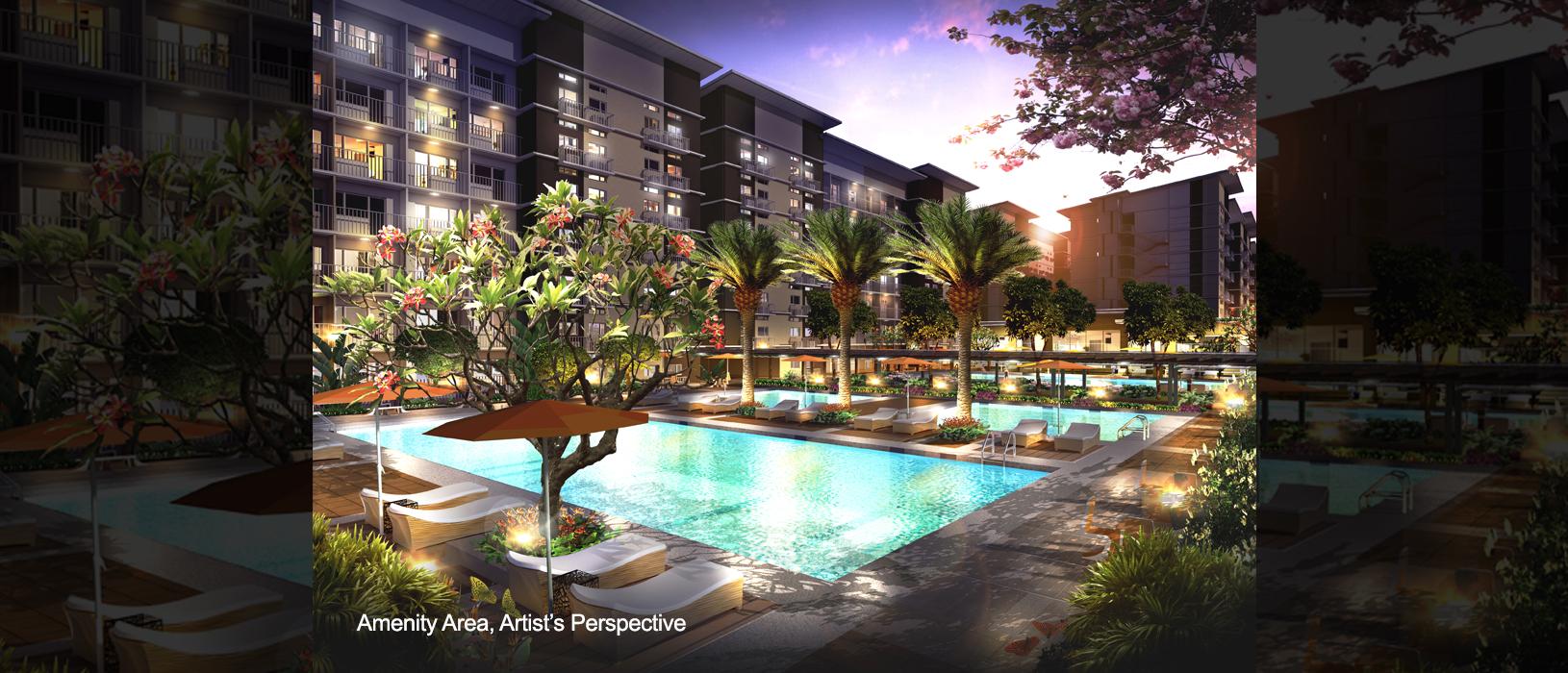 Trees residences amenity pool