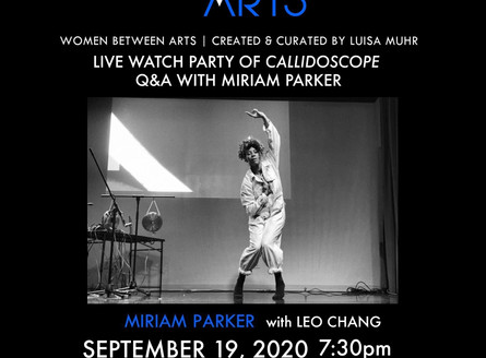 Women Between Arts goes virtual -- Streaming of Watch Parties with Artist Q&A (Miriam Parker)!