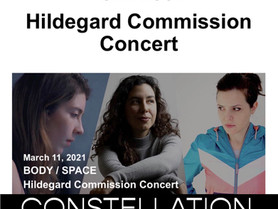 Hildegard Commission Concert stream at National Sawdust featuring Constellation Chor - March 11