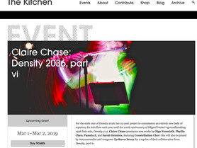 """Constellation Chor joins Claire Chase at The Kitchen to perform parts of Chase's """"Density 2"""