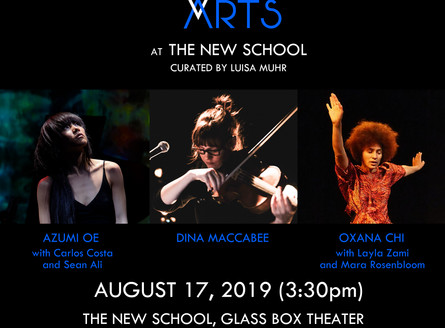 WOMEN BETWEEN ARTS Series at THE NEW SCHOOL GLASS BOX THEATER - Saturday, August 17, 3:30pm