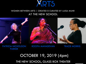 WOMEN BETWEEN ARTS Series at THE NEW SCHOOL GLASS BOX THEATER - Saturday, October 19, 4pm