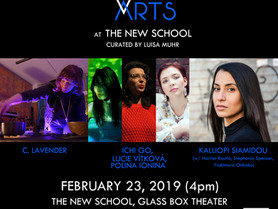 WOMEN BETWEEN ARTS Series at THE NEW SCHOOL GLASS BOX THEATER - Saturday, February 23, 2019, 4pm