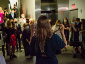 Reception & Performance at un/mute exhibition at the Austrian Cultural Forum NY - November 16, 2021
