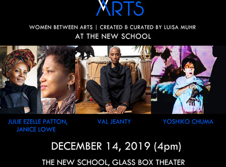 WOMEN BETWEEN ARTS Series at THE NEW SCHOOL GLASS BOX THEATER - Saturday, December 14, 4pm