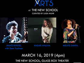 WOMEN BETWEEN ARTS Series at THE NEW SCHOOL GLASS BOX THEATER - Saturday, March 16, 4pm