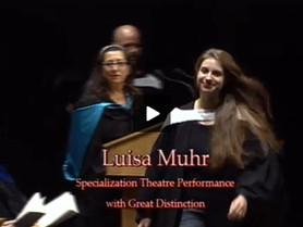 Graduation from Concordia University (CA) - BFA Theatre Performance