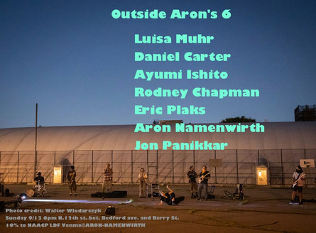 Outside Aron's Live social-distanced outdoor performance