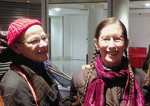 Meredith Monk at Women Between Arts with founder Luisa Muhr