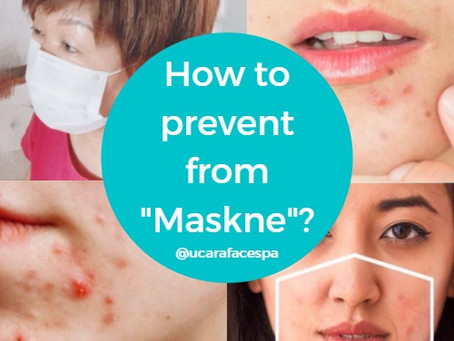 """最近经常的听到这个术语 """"maskne""""。如何预防因为带了口罩而导致脸上长了阻塞与粉刺?"""