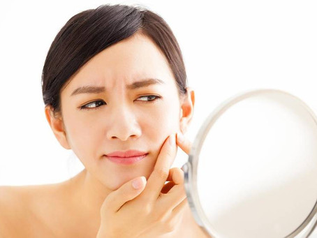 Causes of acne on various parts of the face