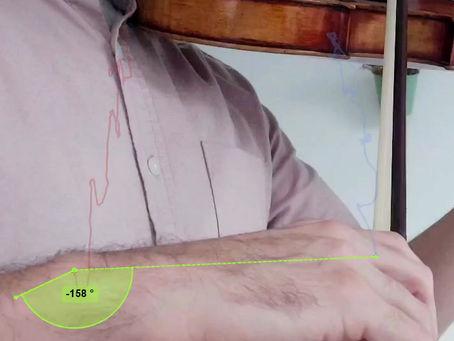 Análisis computarizado de la técnica del staccato en el arco arriba. Con ejercicios.