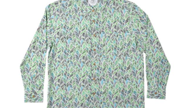 Men's Long Sleeve Bamboo Shirt – Green Leaf