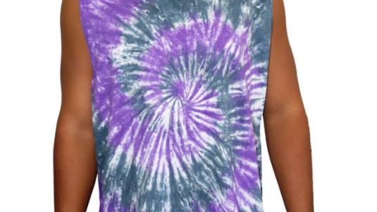 """Unisex Tie Dye Muscle Shirt """"Purple Haze"""""""