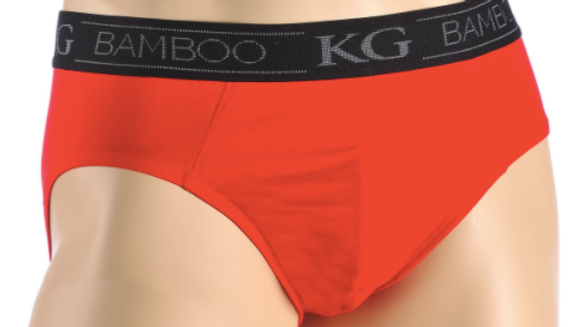 MEN'S BAMBOO BRIEF RED