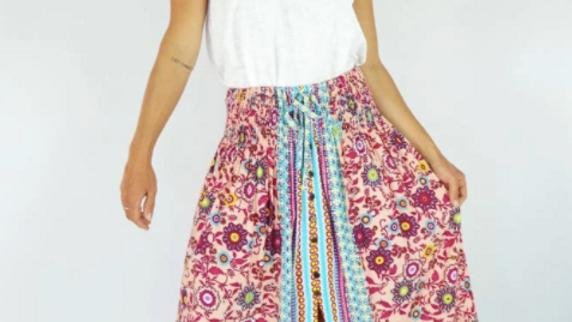 """Tangelo Skirt """"Sangria"""""""