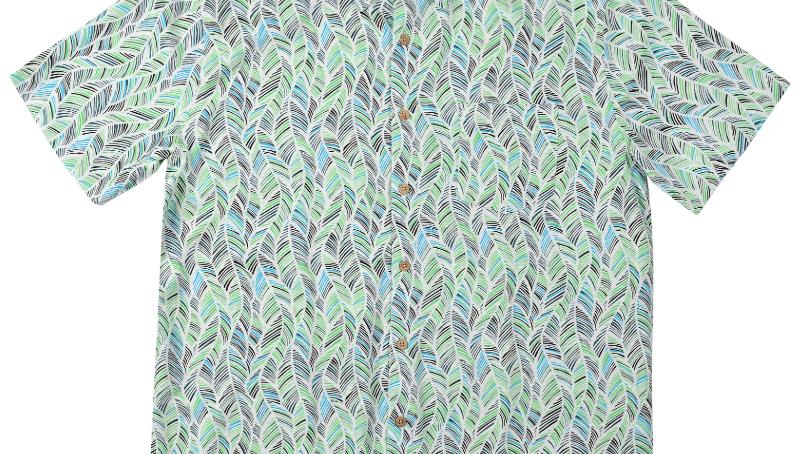 BAMBOO FIBRE SHIRT GREEN LEAF