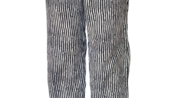 "Split Pant ""Stripes"" Print -Navy"