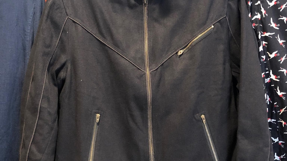 Bikey Jacket with Piping