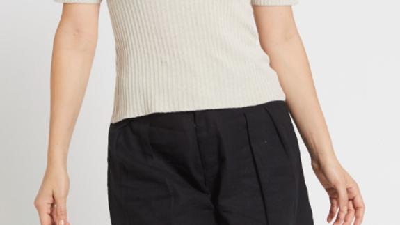 Ladies Hemp Shorts-Black - LSB2083