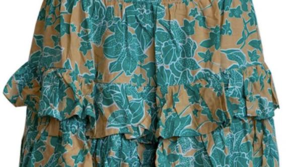 """Havana Skirt """"Spotflower"""" - Taupe"""