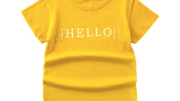 Unisex Kid Cartoon Letter T-Shirt - SKU200612204