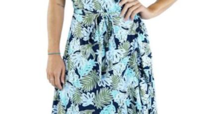 "Cupid Dress ""Kauai"" Navy - SKU 2186"