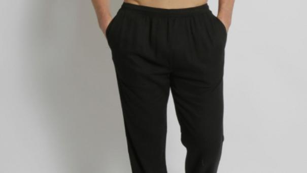 Men's Bamboo Hemp Elastic Waist Beach Pants - MSB196