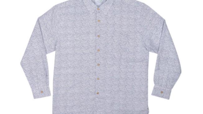 Men's Long Sleeve Bamboo Shirt – Navy Motif