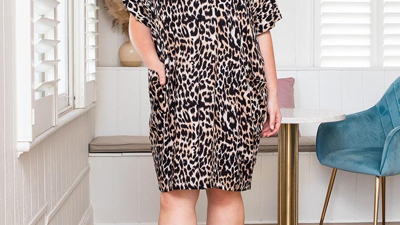 Pocket Dress - Leopard