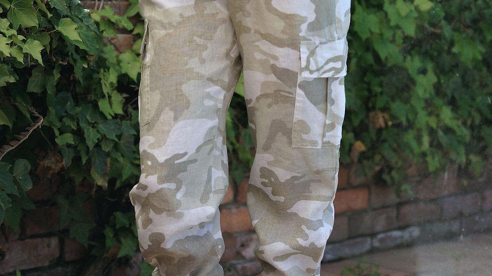 Camo Linen Pants - SN2434