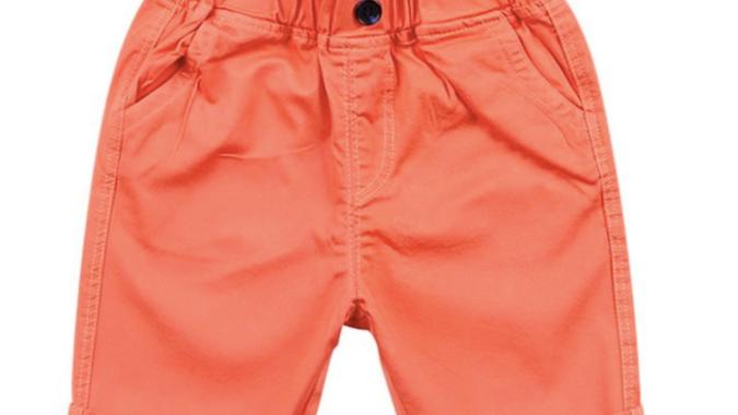 Kids Solid Color Cotton Shorts - SKU19042465