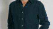 Mens Hemp Rayon Relax Fit Long Sleeve Shirt - S12