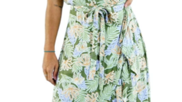 "Cupid Dress ""Kauai"" - Olive"