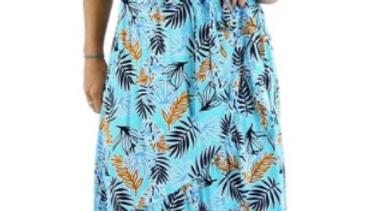 "Cupid Dress ""Kauai"" Aqua - SKU2186"