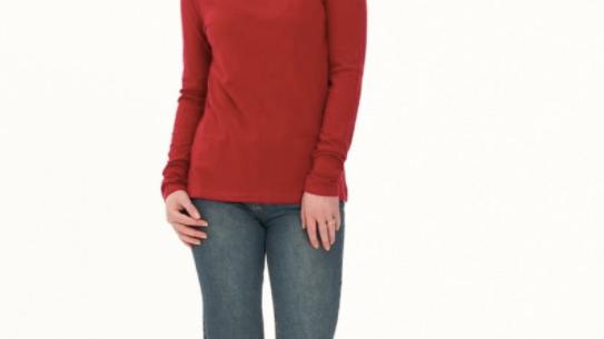 Ladies' Hemp Cotton Long Sleeve Tee - LWT2034