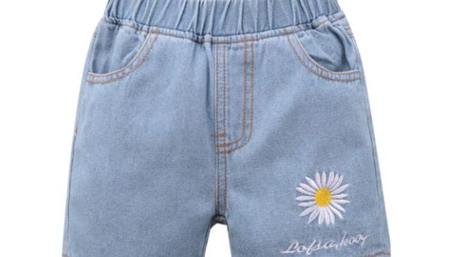 Daisy Flower Fashionable Demin Shorts - SKU200821193