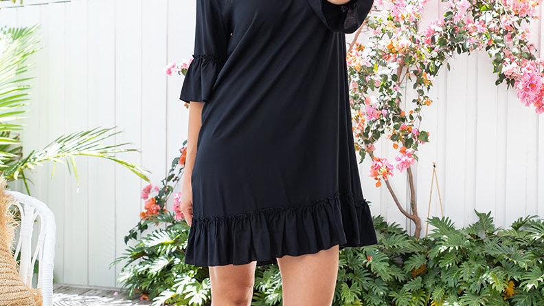 Freez Shift Dress  Style 1731 Black