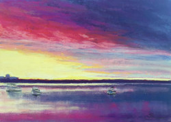Salisbury Sunset with Boats