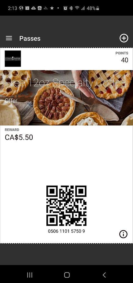 HomeQuarter Coffeehouse *& Bakery Rewards Program