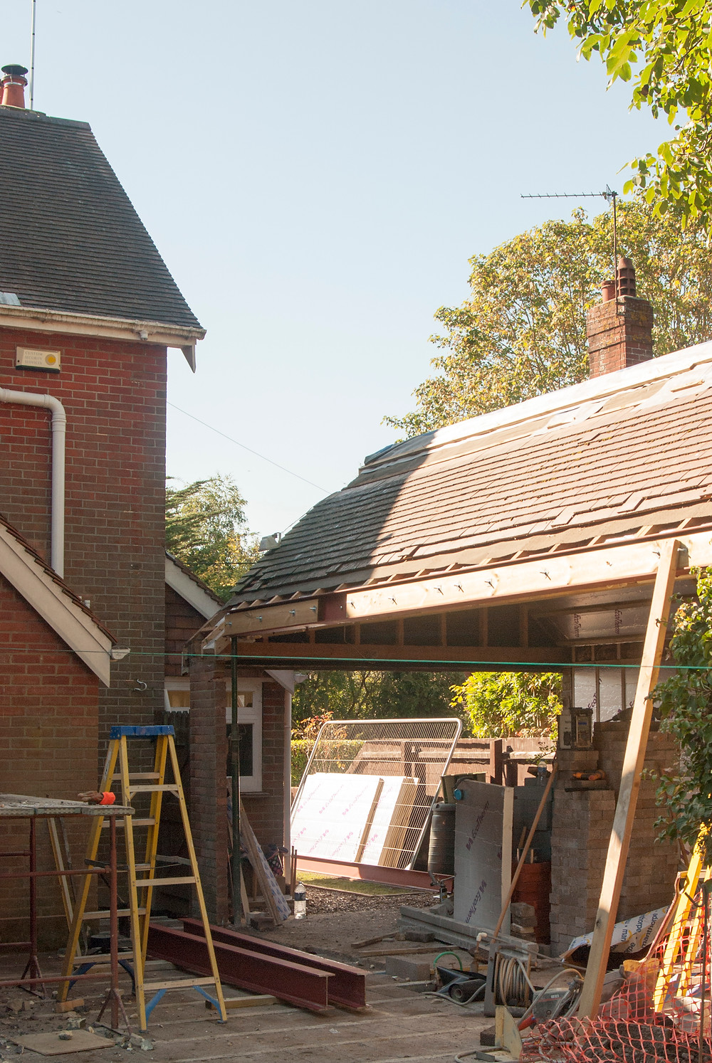 Garage conversion with vaulted ceiling extension in Ringwood, New Forest