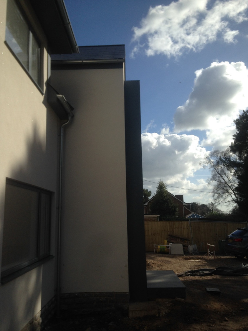 House B nears completion.