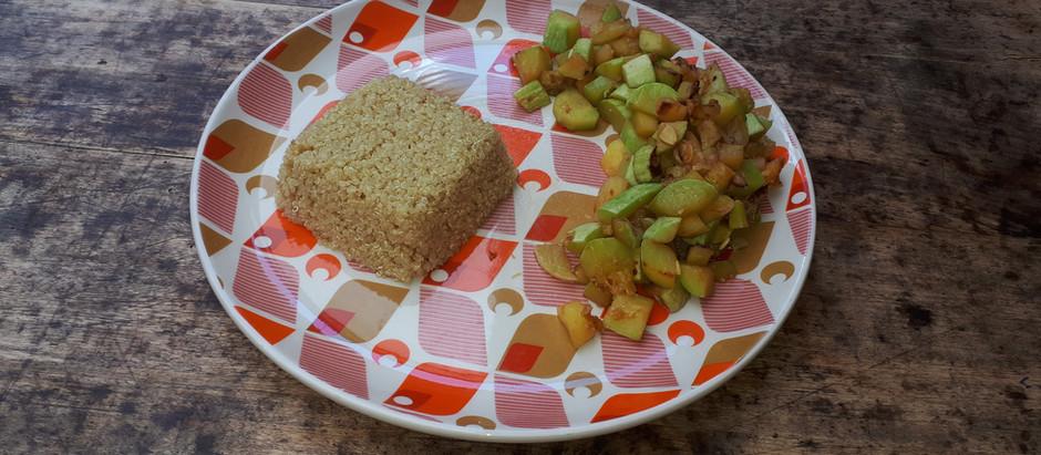 Boulgour et sautés de légumes de saison (été)