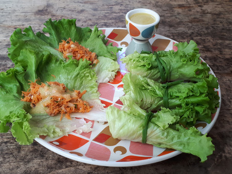 Wrap carottes thon laitue sans cuisson