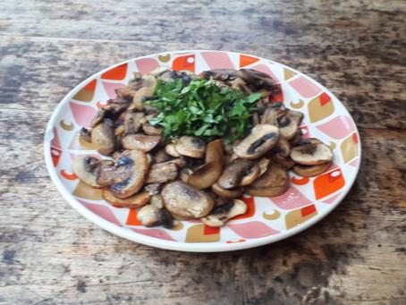 Entrée de champignons au basilic
