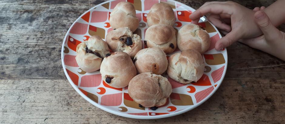 Boules de pain aux pépites de chocolat